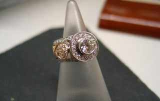 custom design diamond ring