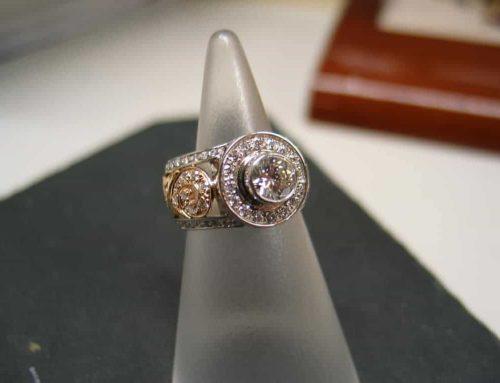 Acanthus Pattern Diamond Ring