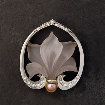 Cyclamen Brooch
