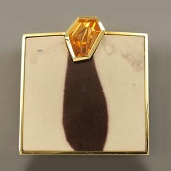 Mandarin Garnet Brooch