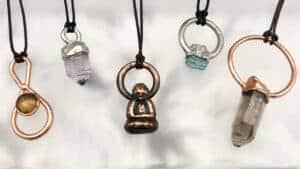 Precious stones, amethyst, gold, buddha